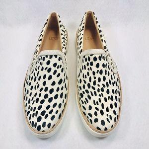 NEW UGG Soleda Sneaker White Calf Hair 1096943